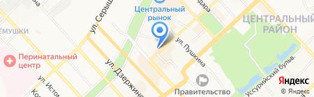 Алые паруса на карте Хабаровска