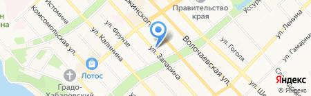 Борода на карте Хабаровска