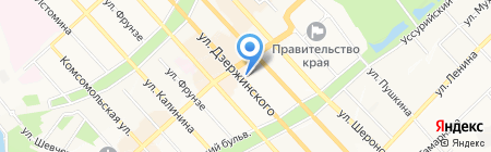 Весёлый Мишка на карте Хабаровска