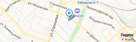 Амурский на карте Хабаровска
