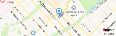 Идеал на карте Хабаровска