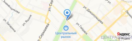 Лапушка на карте Хабаровска