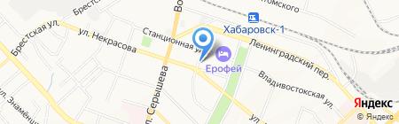 Котомка на карте Хабаровска
