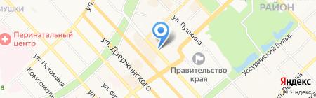 Адвокатской кабинет Мизина М.В на карте Хабаровска