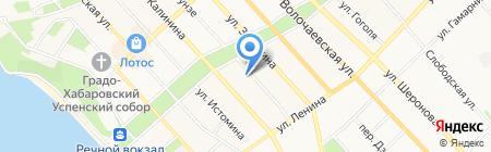 Седьмая Столица на карте Хабаровска