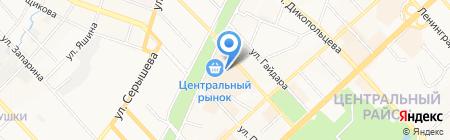 Харбин на карте Хабаровска