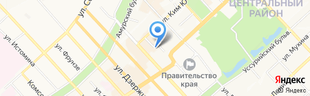 Бэйфан на карте Хабаровска