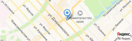Чао какао на карте Хабаровска