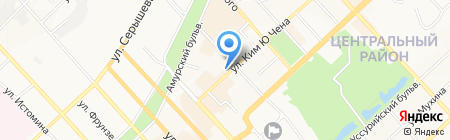 Дальком на карте Хабаровска