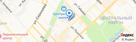 Гардиния на карте Хабаровска