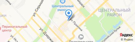 Дальневосточная столица на карте Хабаровска