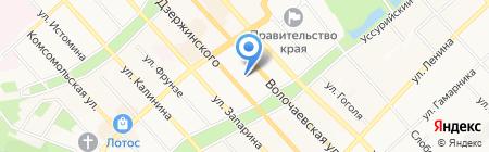 Пряжа на карте Хабаровска