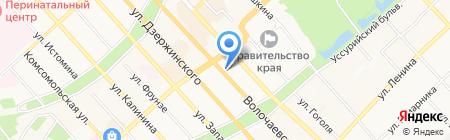 Управление уголовного розыска на карте Хабаровска