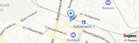 Энергострой на карте Хабаровска