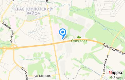 Местоположение на карте пункта техосмотра по адресу г Хабаровск, ул Трехгорная, д 129