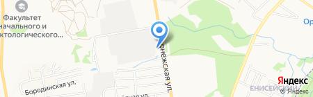 Служба проката автобусов на карте Хабаровска