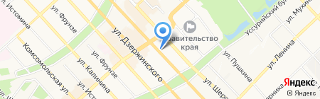 Управление по делам ГО ЧС и пожарной безопасности Хабаровского края на карте Хабаровска