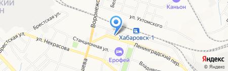 Премьер-Тур ДВ на карте Хабаровска
