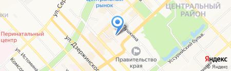 Лицей инновационных технологий на карте Хабаровска