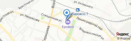 Флокс на карте Хабаровска