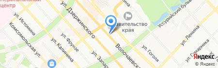 Комитет Правительства Хабаровского края по гражданской защите на карте Хабаровска