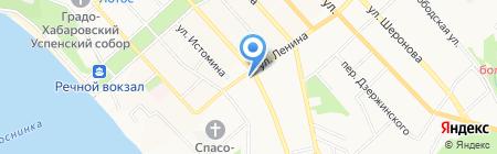 Тополёк на карте Хабаровска