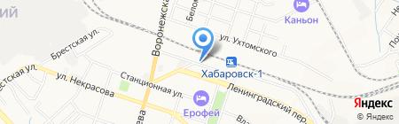 Хабаровская дистанция сигнализации на карте Хабаровска