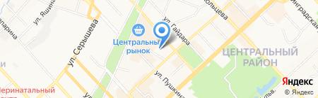 Хабаровский следственный отдел на транспорте на карте Хабаровска