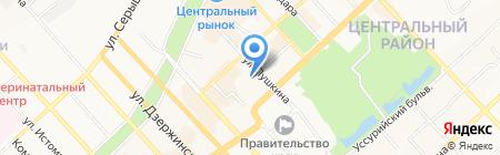 Дальневосточное территориальное управление Росграницы на карте Хабаровска