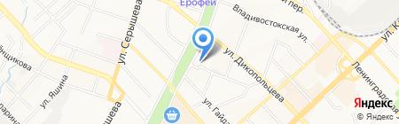 Undeground на карте Хабаровска