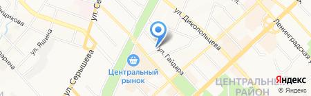 Бульдог на карте Хабаровска