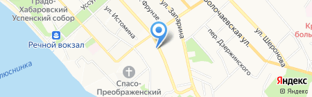 Халал на карте Хабаровска
