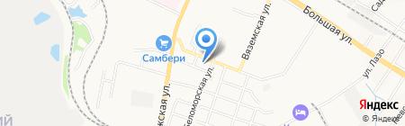 Камская на карте Хабаровска