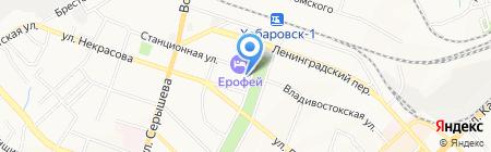 Анкара на карте Хабаровска