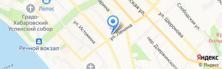 Проектстройиндустрия на карте Хабаровска