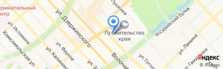 Зимушка на карте Хабаровска