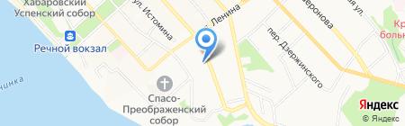 Инвеста на карте Хабаровска
