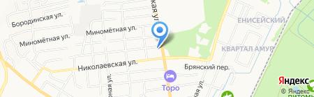 Позная на карте Хабаровска