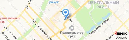 Деловая книга на карте Хабаровска