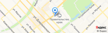 Городская больница №2 им. Д.Н. Матвеева на карте Хабаровска