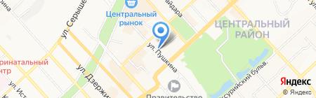 Дом ветеранов им. Л.У. Соболенко на карте Хабаровска