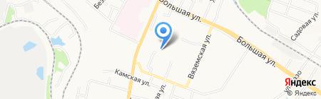 Средняя общеобразовательная школа №77 на карте Хабаровска