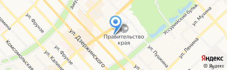 Аридонс на карте Хабаровска