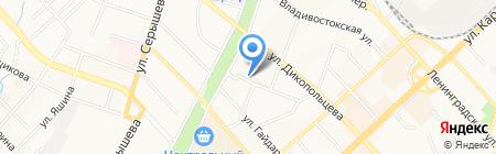 Хабаровские тепловые сети на карте Хабаровска