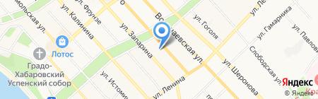 Руфин на карте Хабаровска
