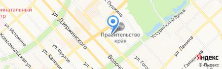 Авангард-строй на карте Хабаровска