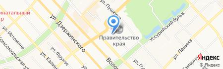 Рубеж на карте Хабаровска