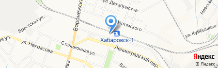 Григовский на карте Хабаровска
