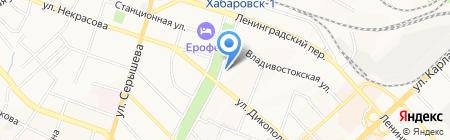 Центр юридических и риэлторских услуг на карте Хабаровска