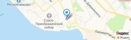 Шиномонтажная мастерская на ул. Калинина на карте Хабаровска